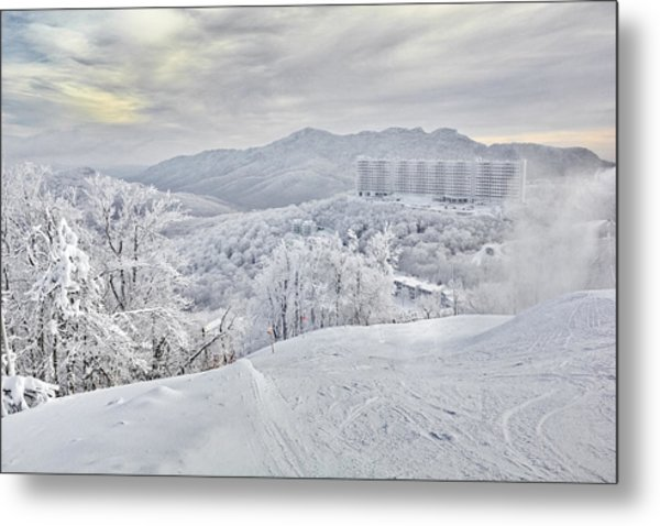 Mountain Morning After The Storm Metal Print