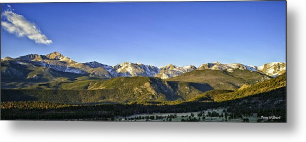Mountain Panorama Metal Print by Tom Wilbert