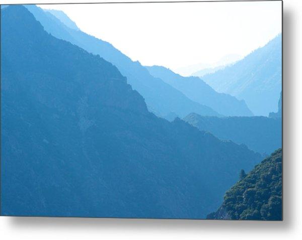Mountain Range Landscape Metal Print