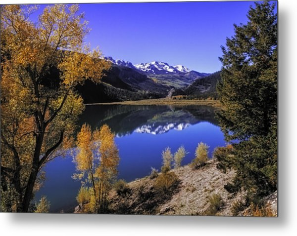 Mountain Reflections Metal Print
