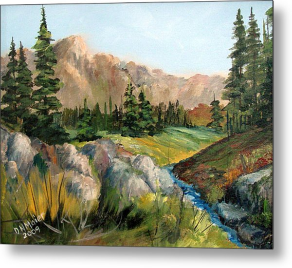 Mountain Stream Metal Print by Dorothy Maier