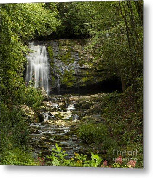 Mountain Stream Falls Metal Print