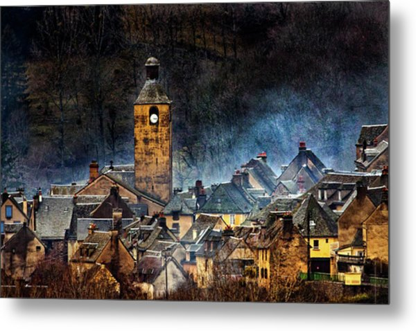 Mountain Village In France Metal Print