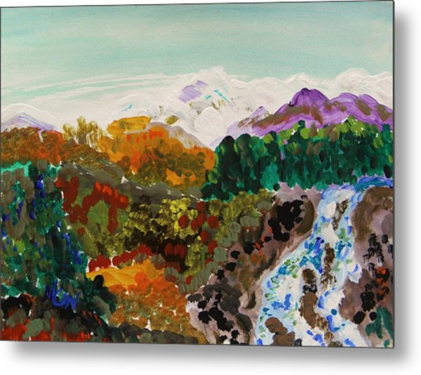Mountain Water Metal Print