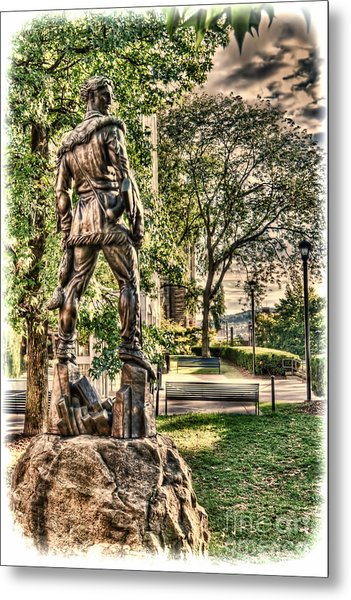 Mountaineer Statue At Lair Metal Print
