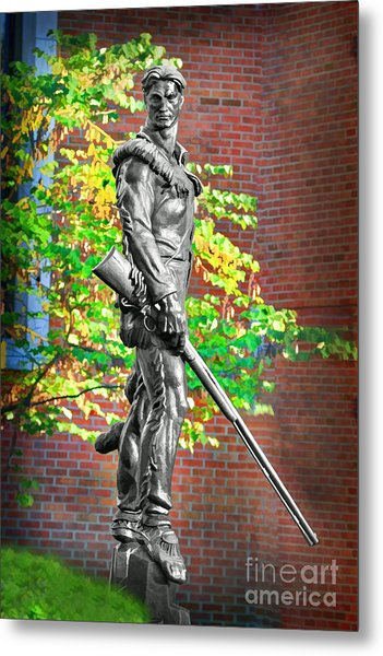 Mountaineer Statue Metal Print