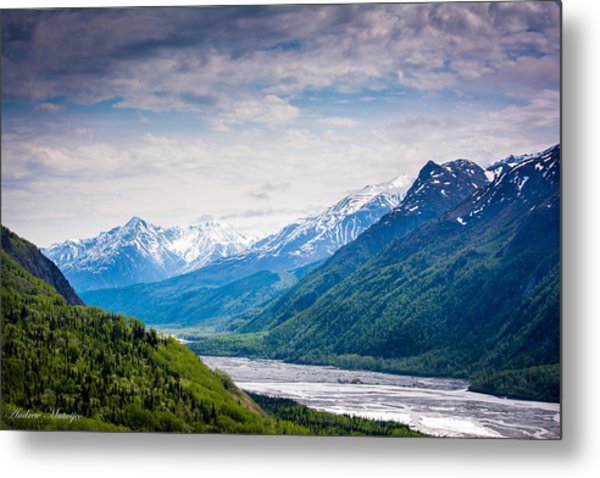 Mountains Along Seward Highway Metal Print