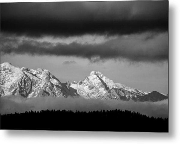 Mountains And Clouds Metal Print