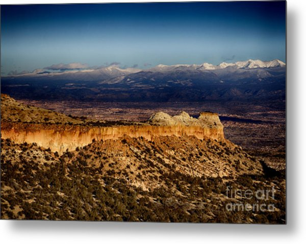 Mountains At Senator Clinton P. Anderson Scenic Route Overlook  Metal Print