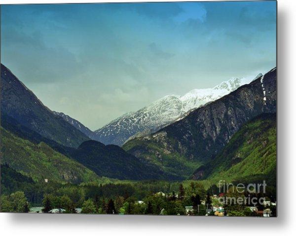 Mountains Beyond Skagway Metal Print