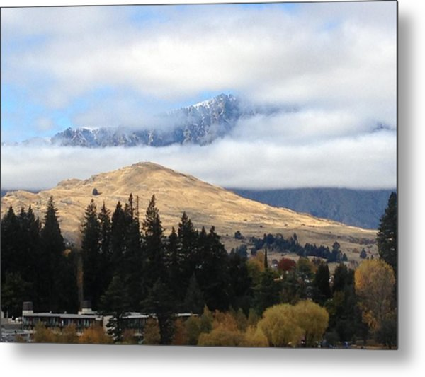Mountains For And Aft Metal Print by Ron Torborg