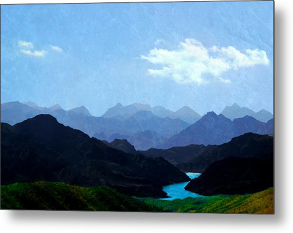 Mountains In Shadow Metal Print
