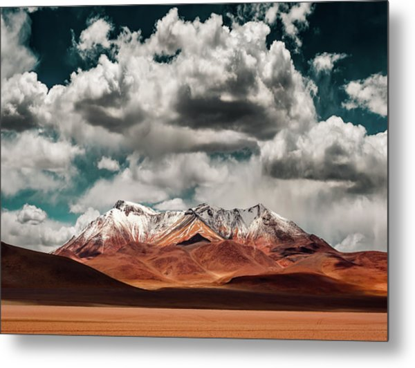 Mountains In The Salvador Dali Desert - Bolivia Metal Print