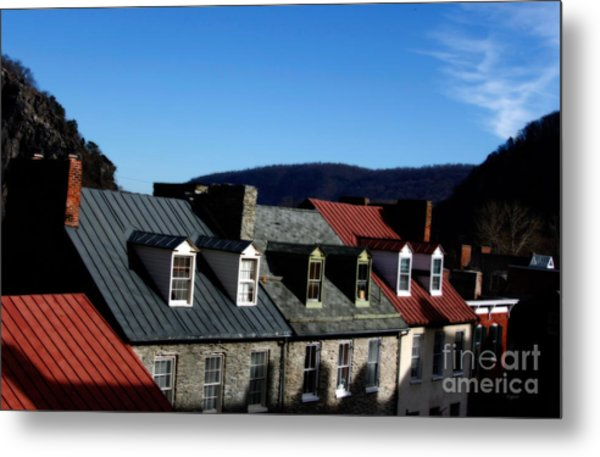 Mountains Of Rooftops  Metal Print by Steven Digman