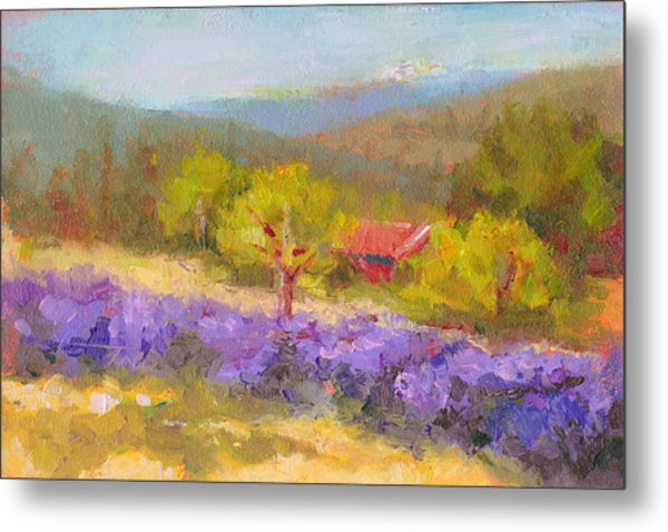 Mountainside Lavender   Metal Print