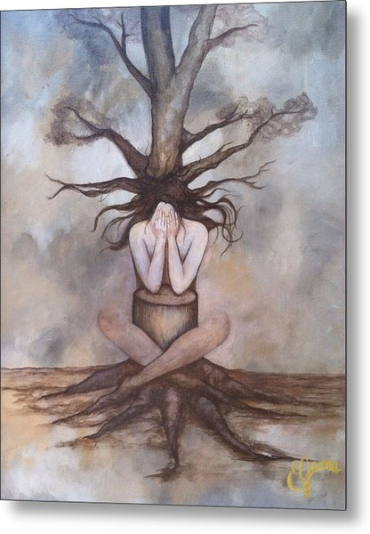 Mourning Nature Metal Print by Estela Gama