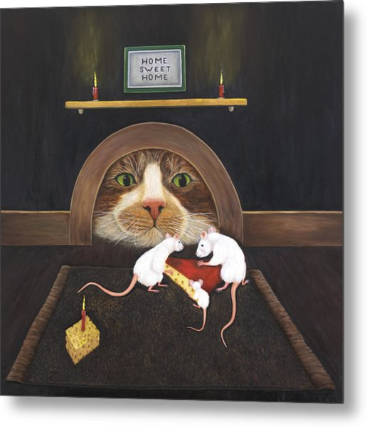 Mouse House Metal Print