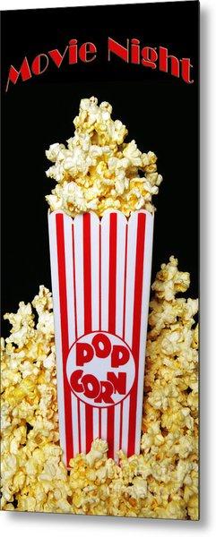 Movie Night Pop Corn Metal Print