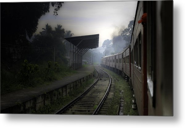 Moving Train Metal Print by Sanjeewa Marasinghe