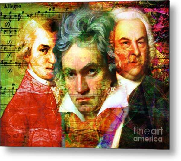 Mozart Beethoven Bach 20140128 Metal Print