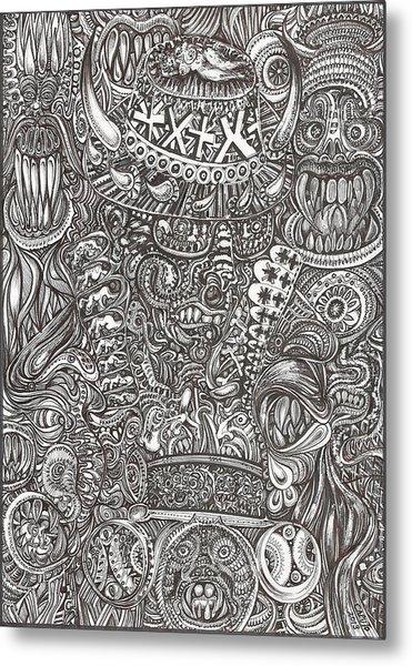 Mr Chameleon Metal Print