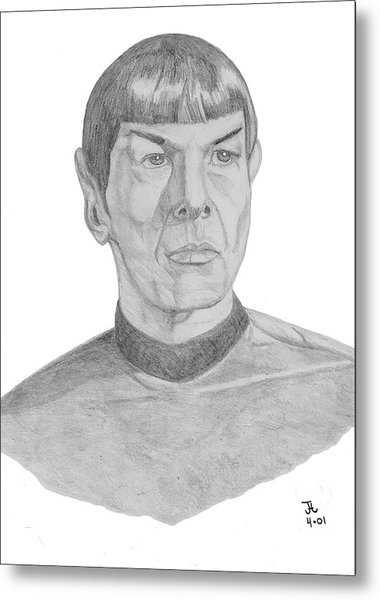 Mr. Spock Metal Print