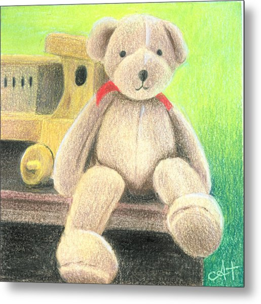 Mr Teddy Metal Print