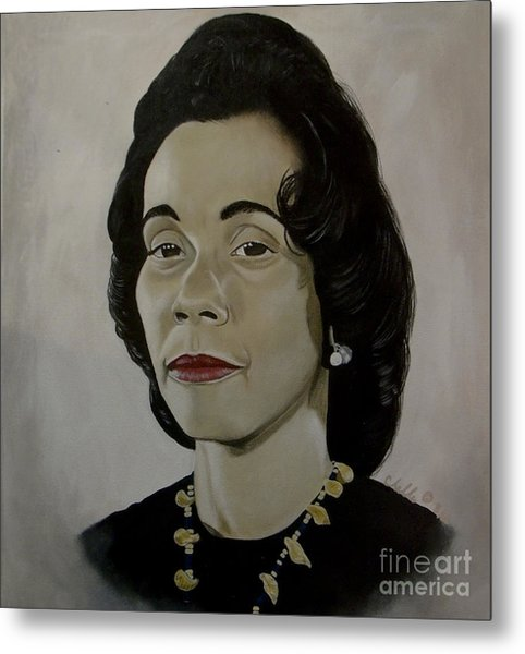 Mrs. Coretta Scott King Metal Print