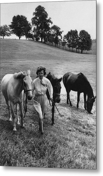 Mrs John West On Her Farm At Malvern Metal Print by Toni Frissell