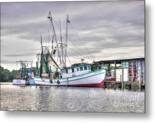 Mrs Pudgy Shrimp Docks Metal Print