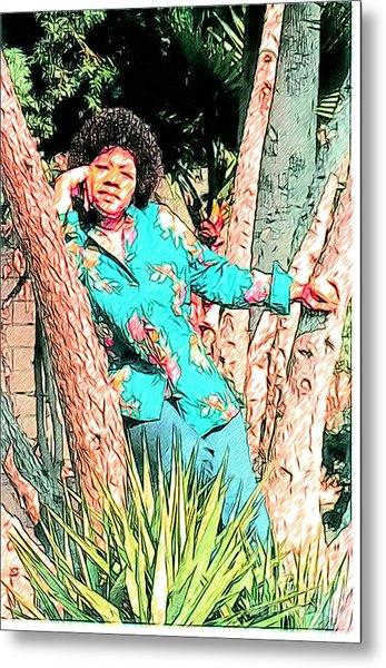 Ms. Jackie II Metal Print
