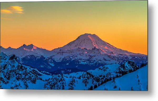 Mt Adams Sunset Review-2 Metal Print
