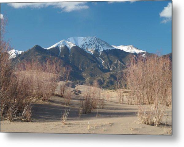 Mt. Herard And The Sand Dunes Colorado Metal Print