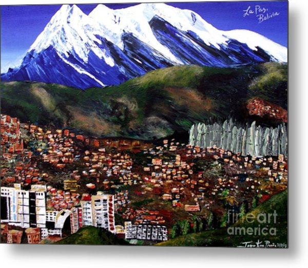 Mt Illimani La Paz Bolivia Metal Print