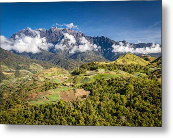 Mt. Kinabalu - The Highest Mountain In Borneo Metal Print by Veronika Polaskova