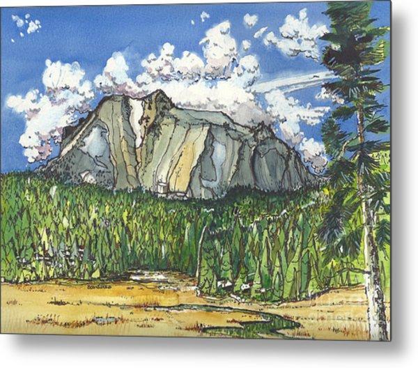 Mt Lassen Metal Print
