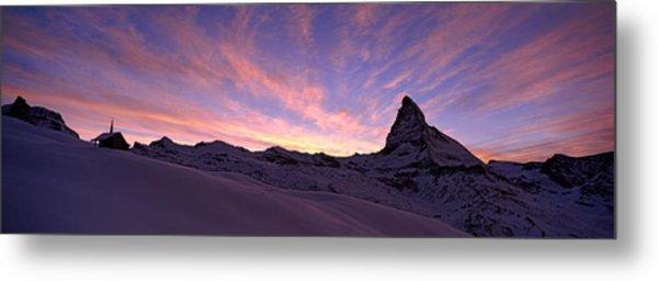 Mt Matterhorn At Sunset, Riffelberg Metal Print