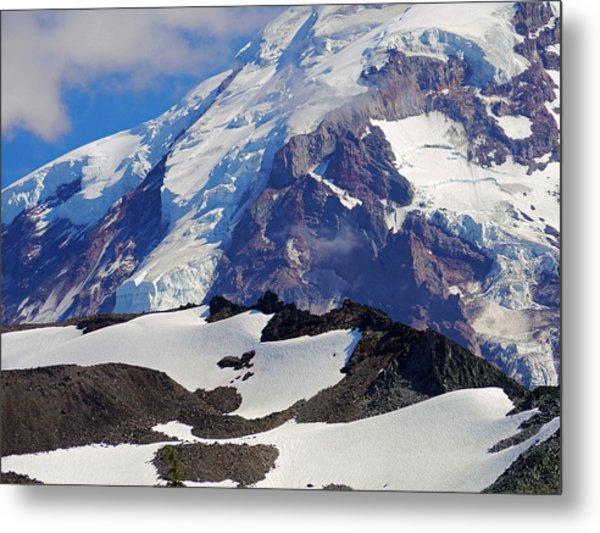 Mt Rainier From Spray Park Metal Print
