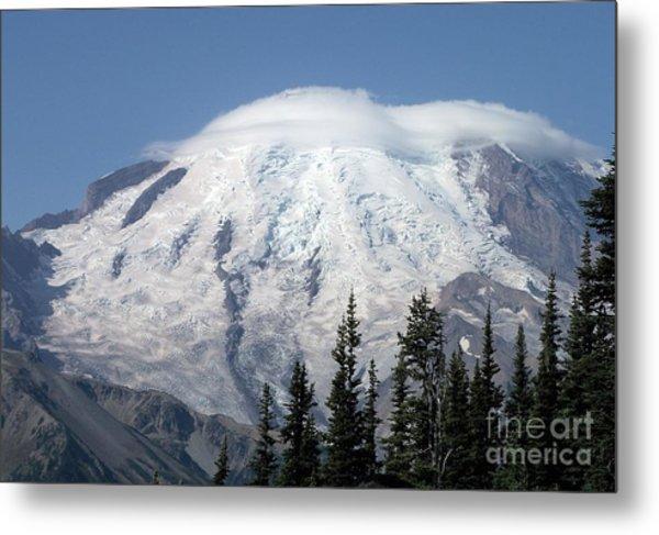 Mt. Rainier In August 2 Metal Print