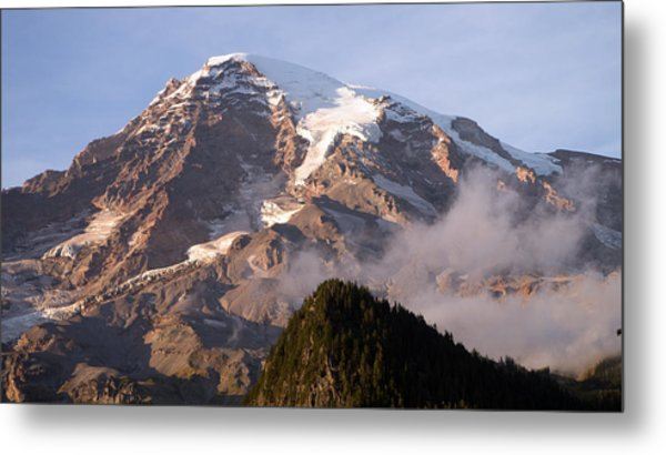 Mt Rainier Sunset Metal Print