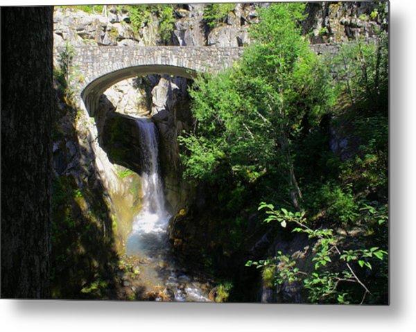 Mt. Rainier Waterfalls Metal Print