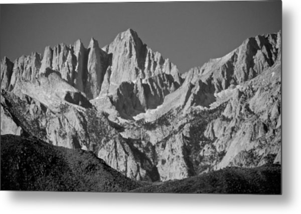 Mt. Whitney In Black And White Metal Print