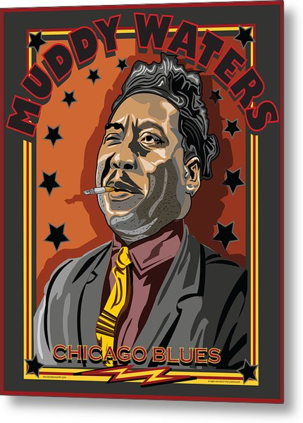 Muddy Waters Chicago Blues Metal Print by Larry Butterworth