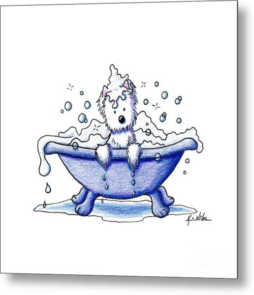 Muggles Bubble Bath Metal Print