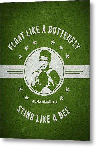 Muhammad Ali - Green Metal Print