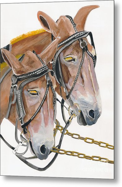 Mules - Two - Beast Of Burden Metal Print