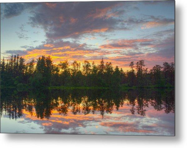 Mullica River Sunset Metal Print