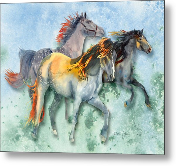 Da132 Multi - Horses Daniel Adams Metal Print