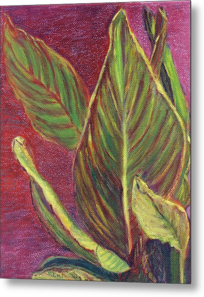 Multicolor Leaves Metal Print