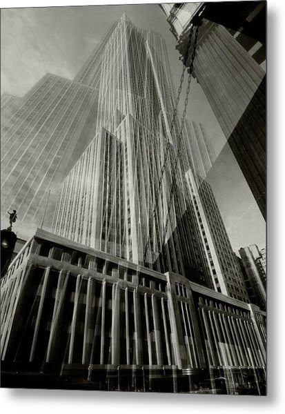 Multiple Exposure Of The Empire State Building Metal Print